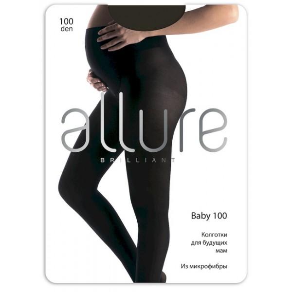 Колготки для беременных Allure 100Den nero черные микрофибра