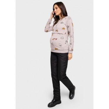 Балоневые брюки на синтепоне для беременных