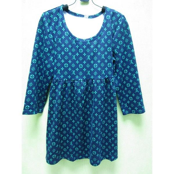 """Блуза """"LV"""" синяя для беременных"""