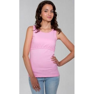 """Майка """"15013"""" Розовая для беременных и кормящих"""