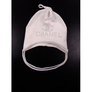 "Шапочка ""Chanel"" Молочная"