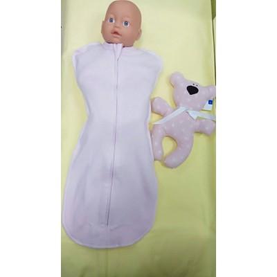 Пеленка-кокон Розовый для новорожденного