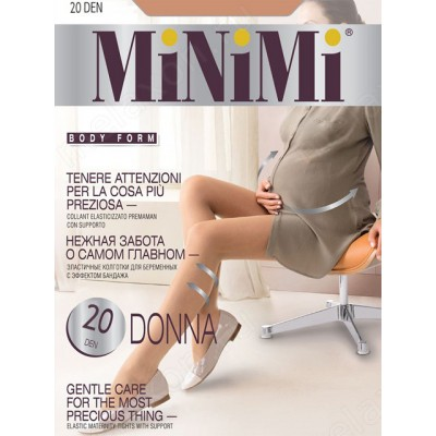 """Колготки """"MiNiMi"""" 20 den Nero для беременных"""