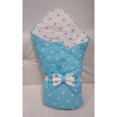 """Одеяло на выписку """"Зима"""" голубое"""