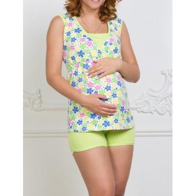 """Пижама для беременных и кормящих """"Elis"""" Салат"""