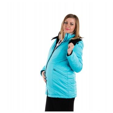 """Куртка демис. """"Хельга"""" 2в1 бирюзадля беременных"""