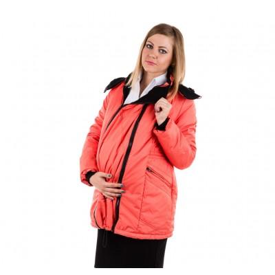 """Куртка демис. """"Хельга"""" 2в1 кораллово-розовый"""