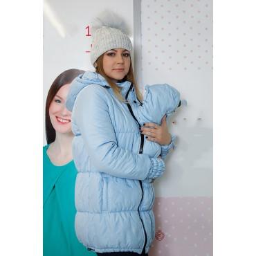 """Куртка демис. """"Глория"""" светло голубая 3в1 для беременных"""