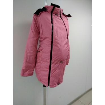 """Куртка демис. """"Хельга"""" 2в1 фуксия для беременных"""