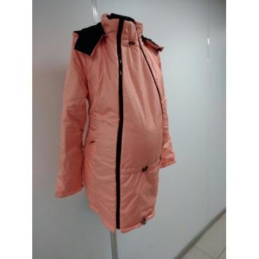 """Куртка демис. """"Хельга"""" 2в1 персик для беременных"""