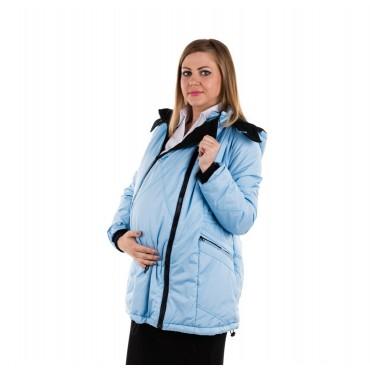 """Куртка демис. """"Хельга"""" 2в1 голубой для беременных"""