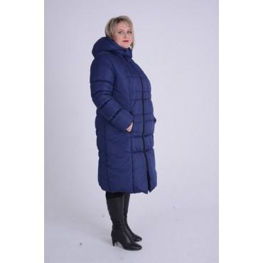 "Куртка зимняя 2в1 ""Анжелика"" Темно синяя"