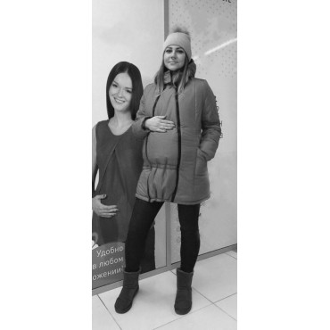 "Зимняя куртка 2 в 1 ""Хелена"" Завиток индиго"