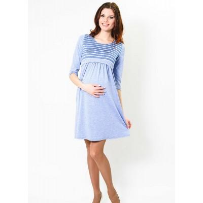 """Платье """"ТТ5045"""" Голубая полоска для беременных и кормящих"""