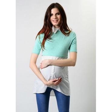 """Блуза """"4008"""" Бирюза, для беременных"""