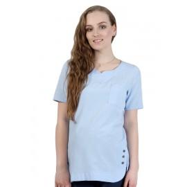 """Блуза """"4018-кор"""" Голубая для беременных"""