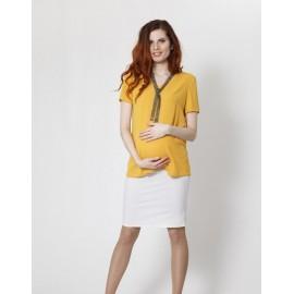 """Блуза""""452"""" Горчица для беременных"""