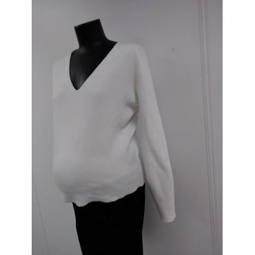 """Джемпер """"749110"""" Белый для беременных"""