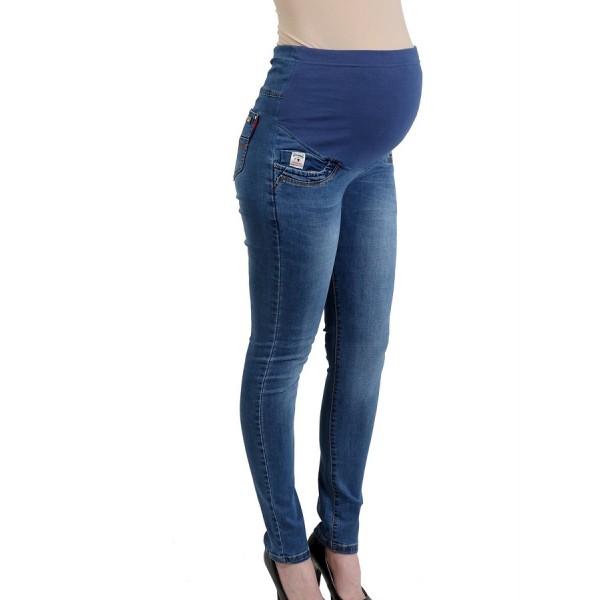 """Джинсы """"6626"""" Синие, для беременных"""