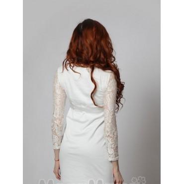 """Платье """"534"""" Белое для беременных"""