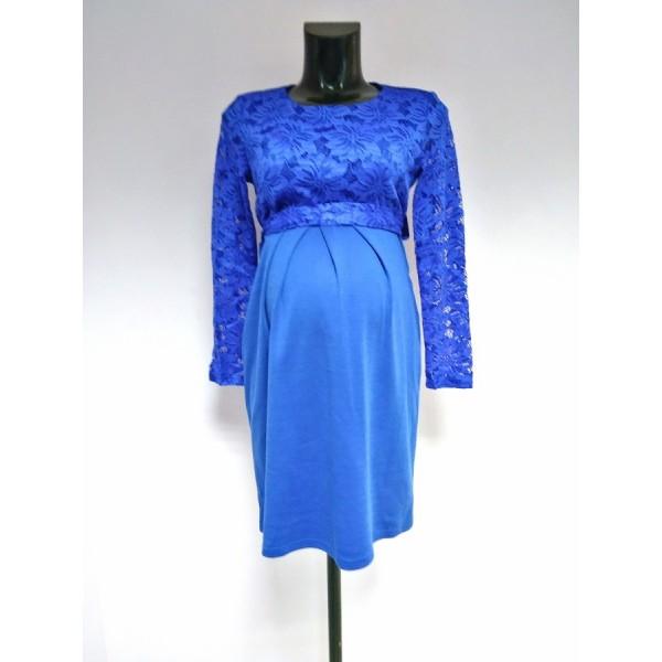 """Платье """"534"""" Синее для беременных"""