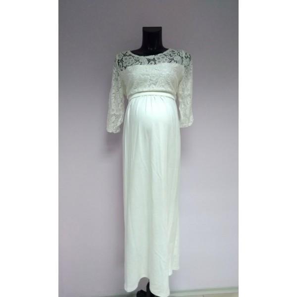 """Платье """"541"""" Белое для беременных"""
