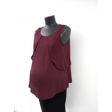 """Блуза """"803085"""" Бордо для беременных"""