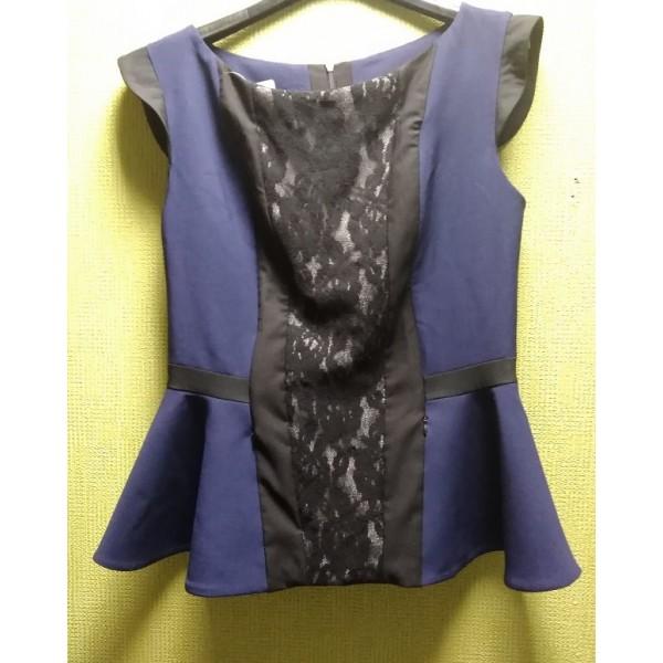 """Блуза """"ЛЗ-003"""" Т.синяя для кормящих мам"""