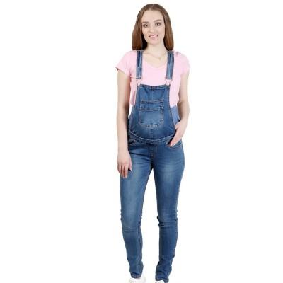 """Комбинезон джинс """"2091"""" Св.синие, для беременных"""