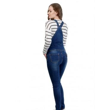 """Комбинезон джинс """"239"""" Т.синие для беременных"""