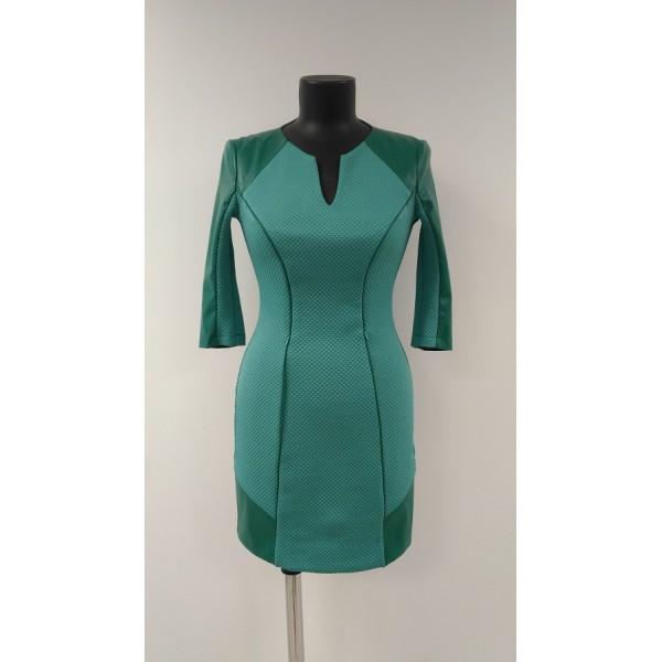 """Платье """"Rica"""" зеленое для кормящих"""