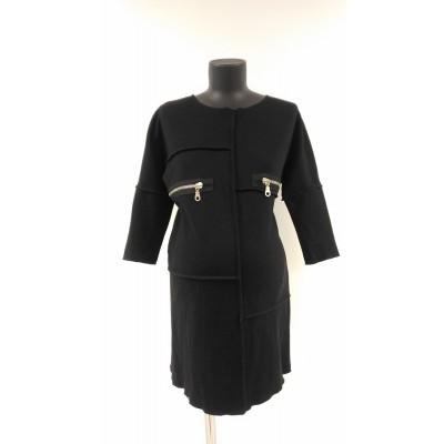 """Платье """"1395"""" Черное для беременных и кормящих"""
