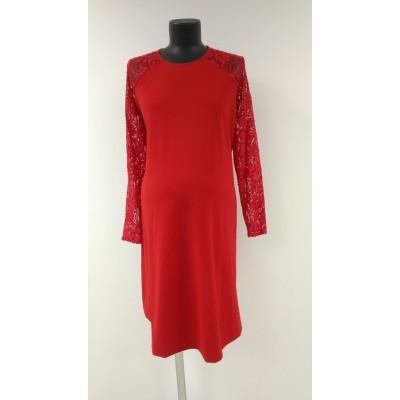 """Платье """"ПА-100"""" красное для беременных"""