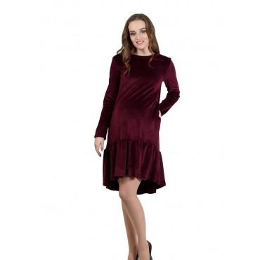 """Платье """"5015"""" Бордо для беременных и кормящих"""