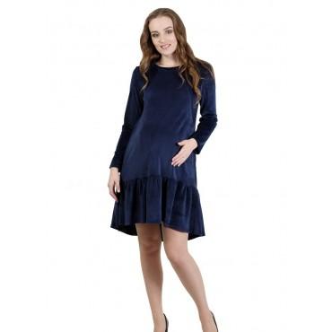 """Платье """"5015"""" Т.синие для беременных и кормящих"""