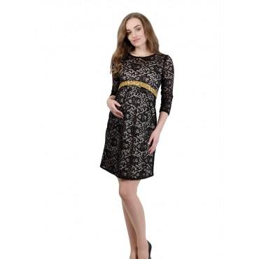 """Платье """"553"""" Бежевое  для беременных"""