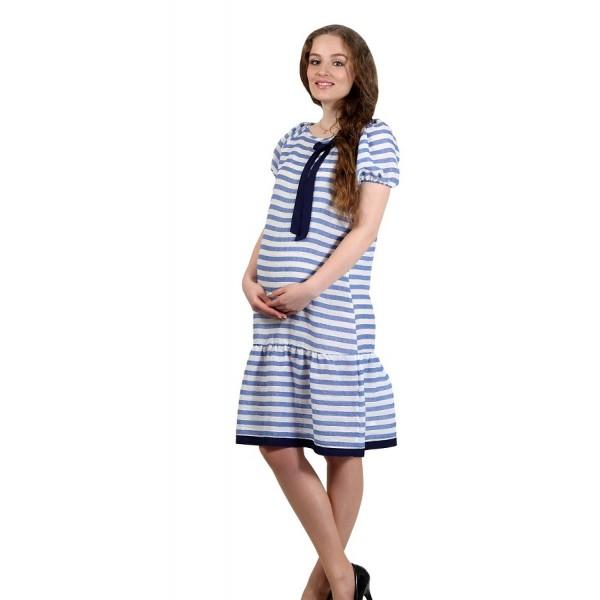 """Платье """"598/1-кор"""" Полоски для беременных"""