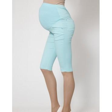"""Капри """"125"""" Голубые для беременных"""