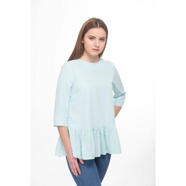 Блуза из модала Бирюза для беременных и кормящих