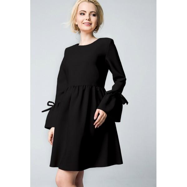 """Платье """"722.140"""" Черное для беременных"""
