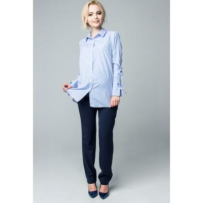 Блуза Рубашечная ткань Голубой для беременных и кормящих