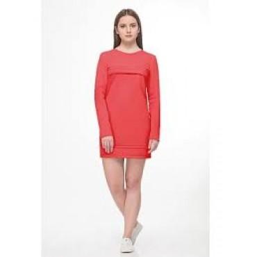 """Платье """"125.711"""" Коралл для беременных и кормящих"""