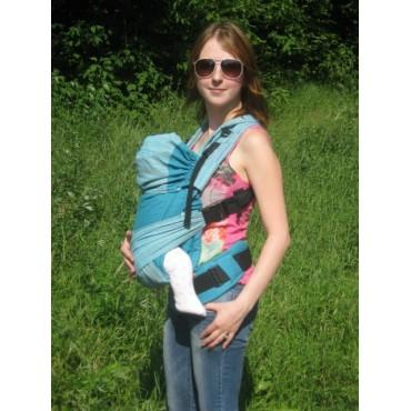 """Физиологичный рюкзак с 3х мес """"Комфорт"""" Аква шарфовый"""