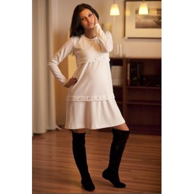 """Платье """"99047"""" белое для беременных"""