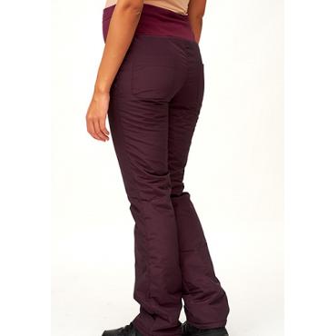 Балоневые брюки на синтепоне для беременных, слива
