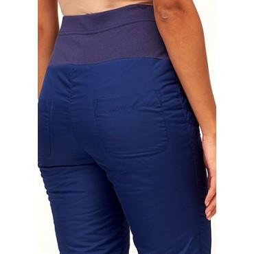 Балоневые брюки на синтепоне для беременных, синие