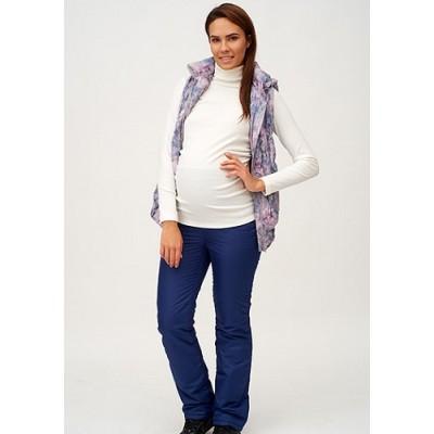 Ожидаем 19 ноября Балоневые брюки на синтепоне для беременных, синие