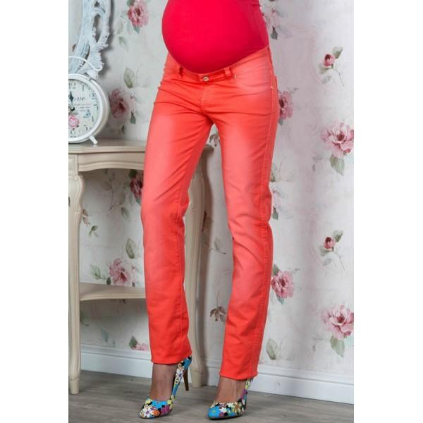 Летние джинсы для беременных коралл