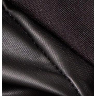 Чёрные кожаные леггинсы для беременных