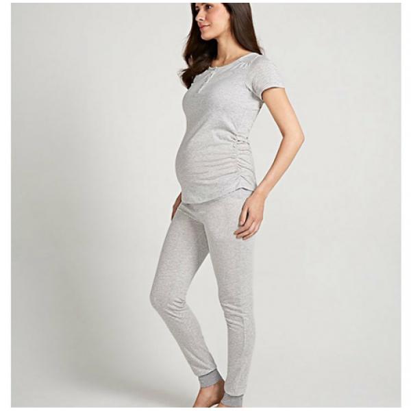 "Пижама ""10"" молочная с рисунком для беременных"
